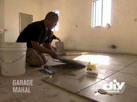 Laying Garage Floor Tile Youtube