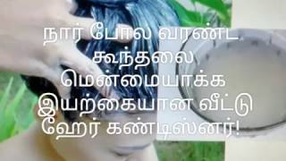 How to Make Natural Hair Conditioner at Home Tamil