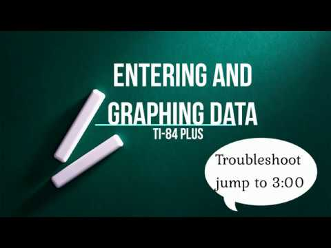 How to Enter and Graph Data on a Graphing Calculator