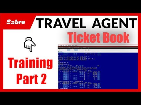 Book Ticket in Sabre Red Workspace - Travel Agency Course Part 2