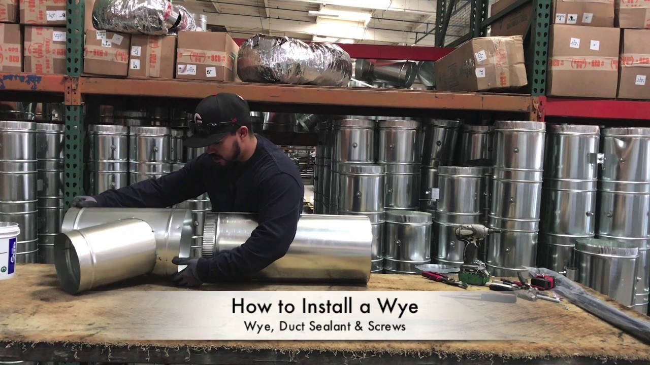 How To Install A Wye The Duct Shop Youtube