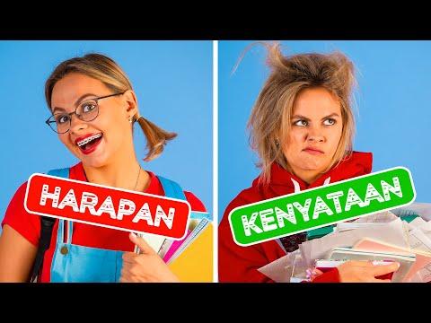 KEMBALI KE SEKOLAH HARAPAN VS KENYATAAN || Situasi Lucu Oleh 123 GO!