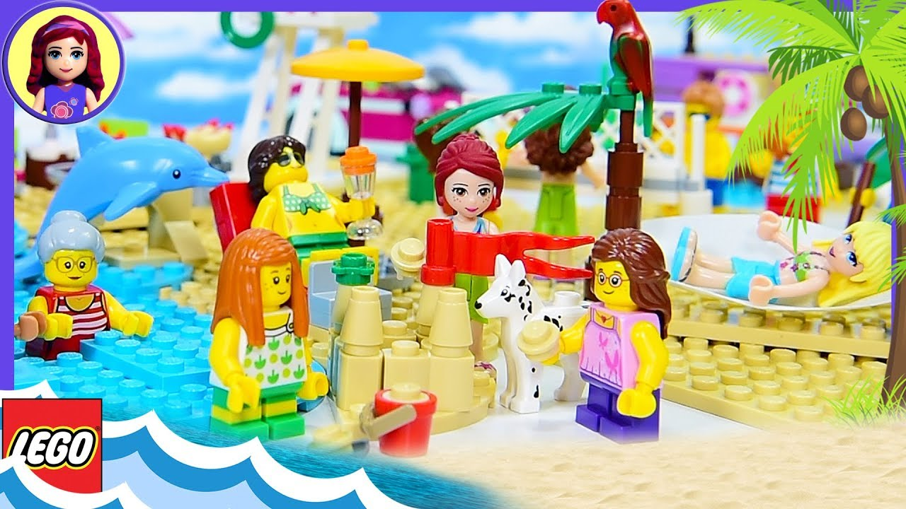 Fun At The Beach Lego City With Lego Friends Seaside Build Review