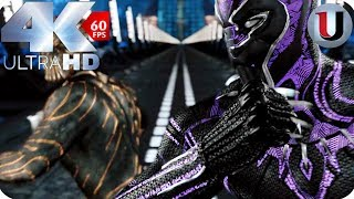 Black Panther Vs Killmonger - Subway Fight Final Battle - MOVIE CLIP (4K HD)