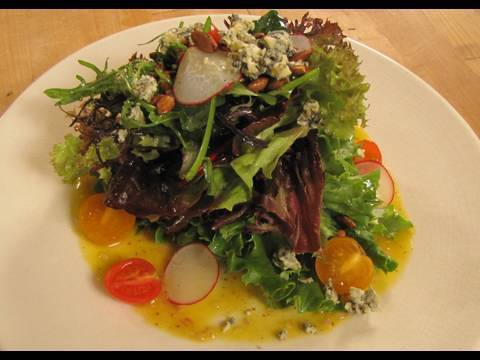 Hapuku Lodge Organic Salad in New Zealand!