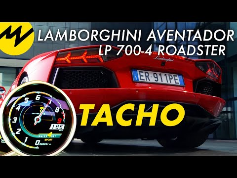 Lamborghini Aventador LP 700-4 Roadster - Tacho