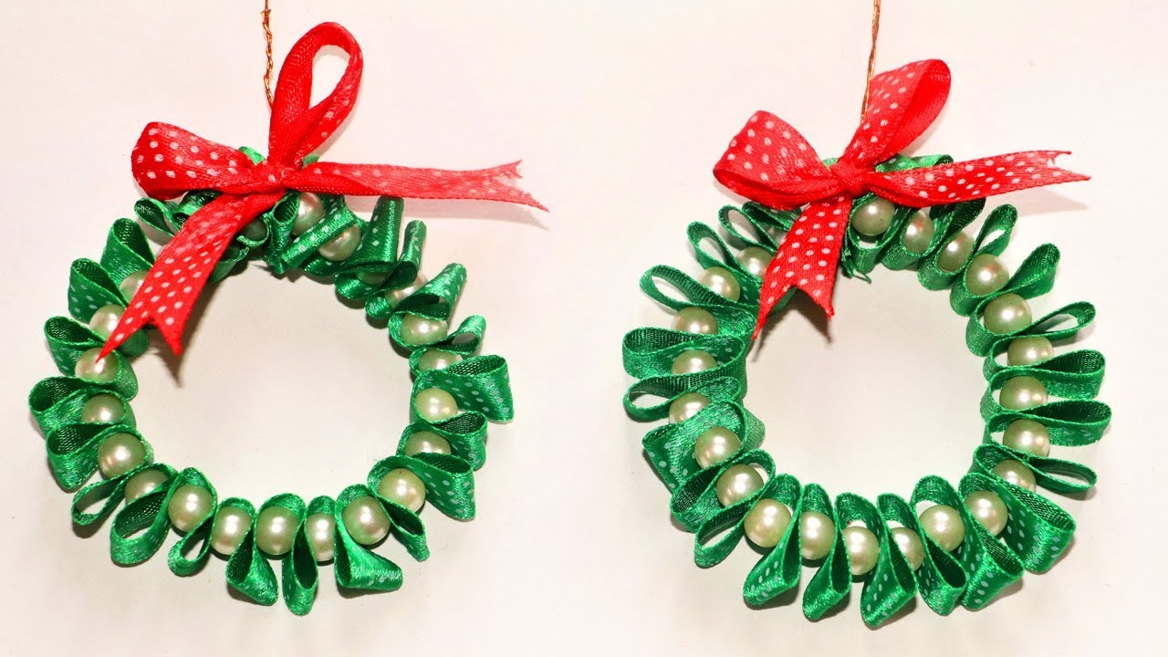 DIY Christmas Ornaments | Ribbon