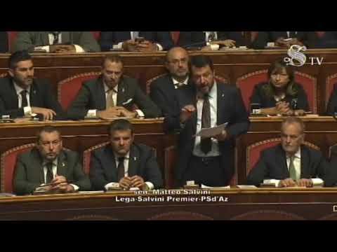 Matteo Salvini: Il mio intervento ora in diretta dal Senato