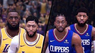 NBA 2K20 - Season Opener - Los Angeles Lakers vs. Los Angeles Clippers - Full Gameplay!