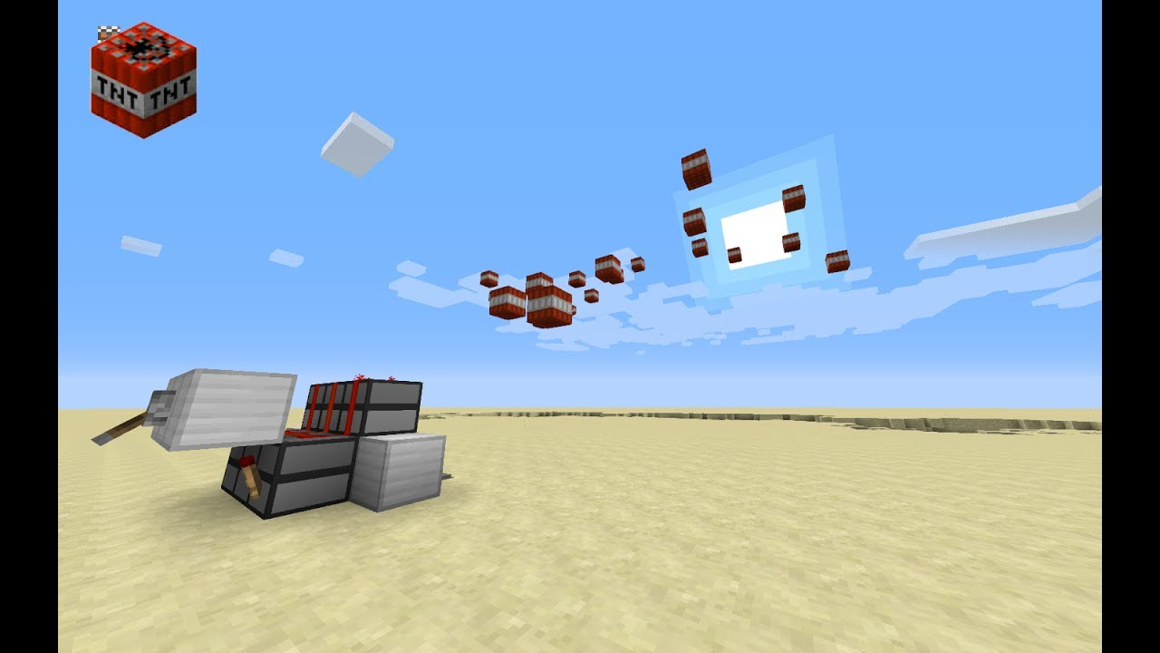 How to make a tnt cannon in minecraft pc 1.12.2