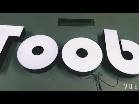 Acrylic epoxy resin frontlit 3D LED channel letter sign