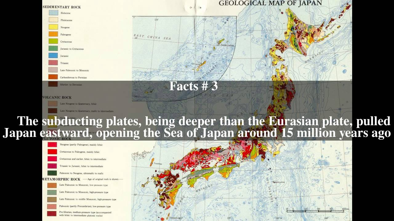 Geology Of Japan Top Facts YouTube - Japan map facts