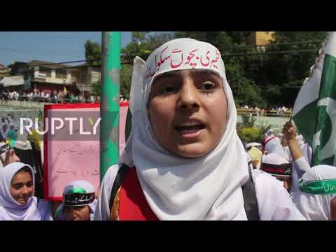 Pakistan: Students protest in Muzaffarabad against India's Kashmir decision