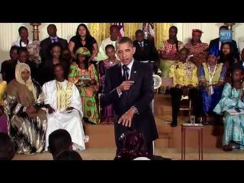 Najma with  President Obama.