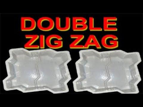 Zig Zag Plastic Paver Mould Supplier / Paver block making process / Concrete molds