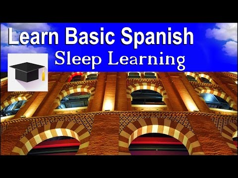 Sleep Learning ★ Spoken Spanish ★ Learn Spanish With The Pow
