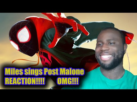 #NerdyPYTHONMedia Miles sings Post Malone!!! Reaction Spider-Man: Into the Spider-verse