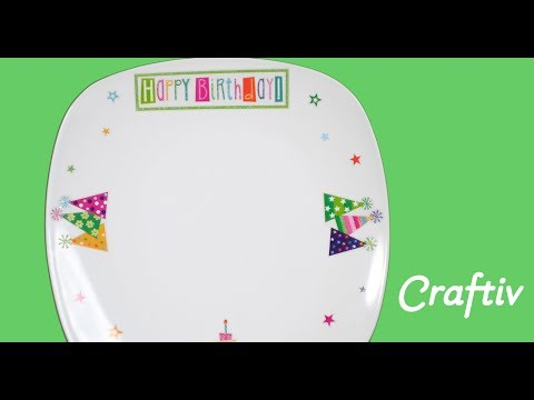 How to Make a Birthday Plate Craft