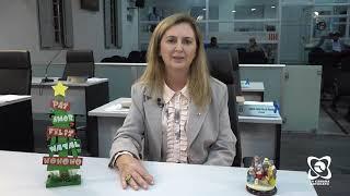 """""""Desejo que o Natal seja de muita bondade"""", mensagem da vereadora Alessandra Lucchesi"""
