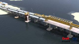 Lesner Bridge Construction Sequence Animation