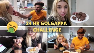 Eating Golgappas for 24 Hours II Kishan got diarrhea. || Don't try this!