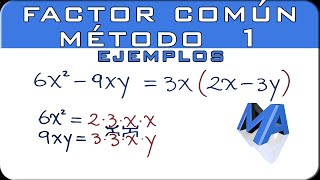 Factor comun metodo 1 | Ejemplos