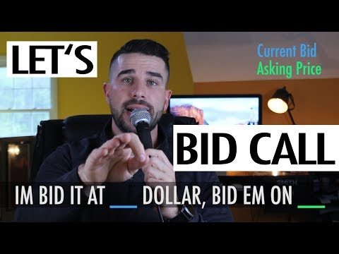 How to Auctioneer : Bid Em' On