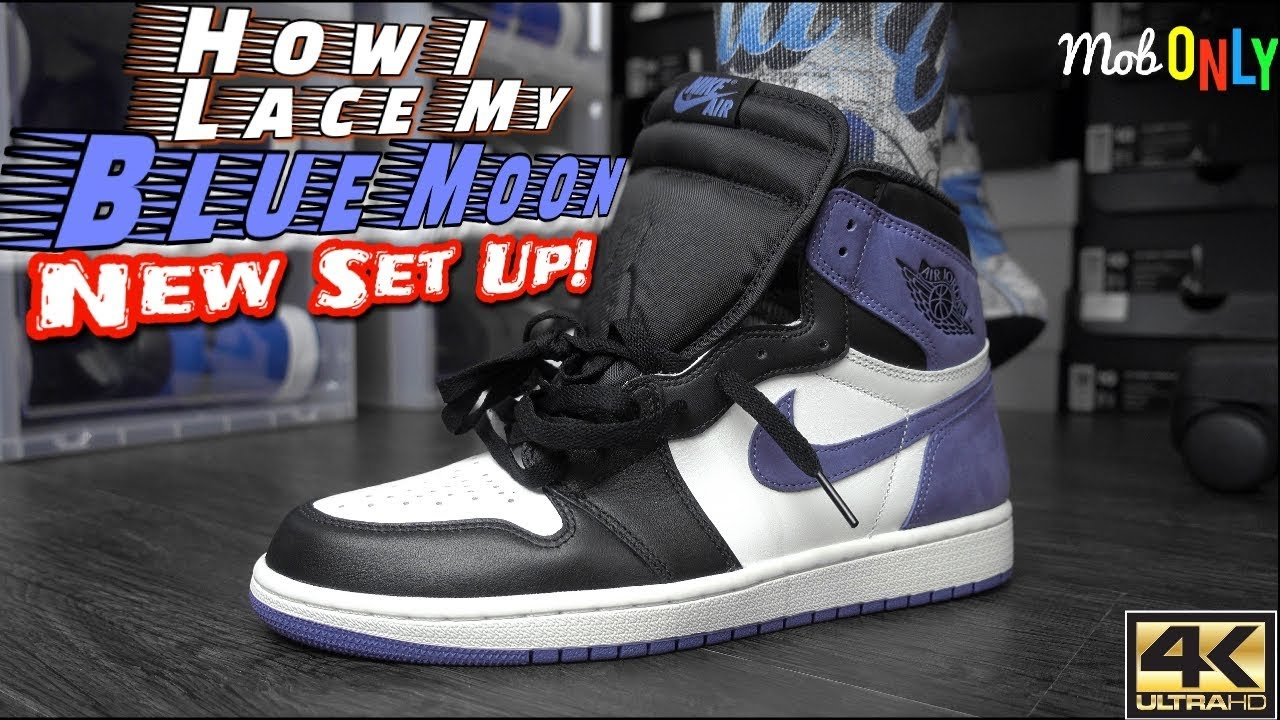 a64b6b7c2c6 How I Lace My Air Jordan 1 Blue Moon ( New Drip ) On Foot 4k UltraHD ...