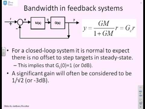 Bode diagrams 18 - bandwidth
