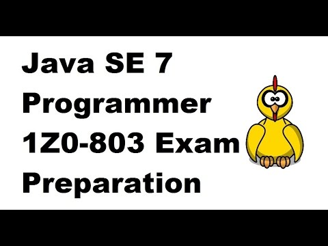 OCA 1Z0-803 Java SE 7 Programmer I overview - YouTube