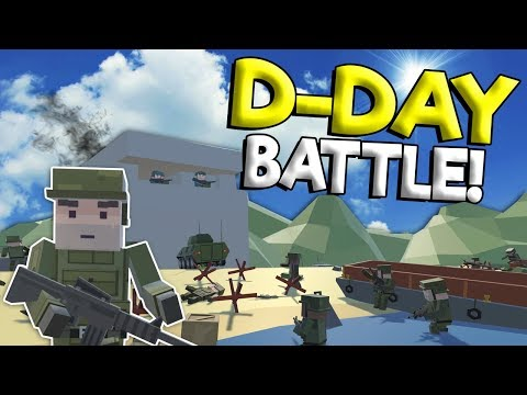 D-DAY MILITARY BEACH LANDING BATTLE! - Tiny Town VR War Gameplay - Oculus VR Game