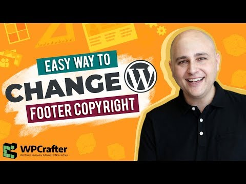 How To Change The Footer Copyright Credits On Any WordPress Theme – New For 2017