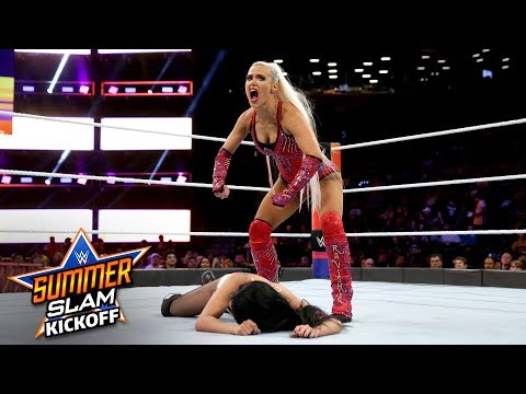 Lana drops Zelina Vega with a brutal kick: SummerSlam 2018 Kickoff Match