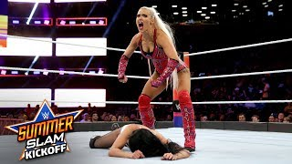 Lana drops Zelina Vega with a brutal kick: SummerSlam 2018 Kickoff Match