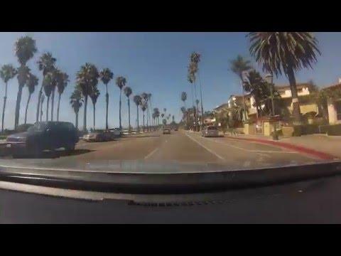 Driving Santa Barbara, CA - time lapse - GoPro hero3