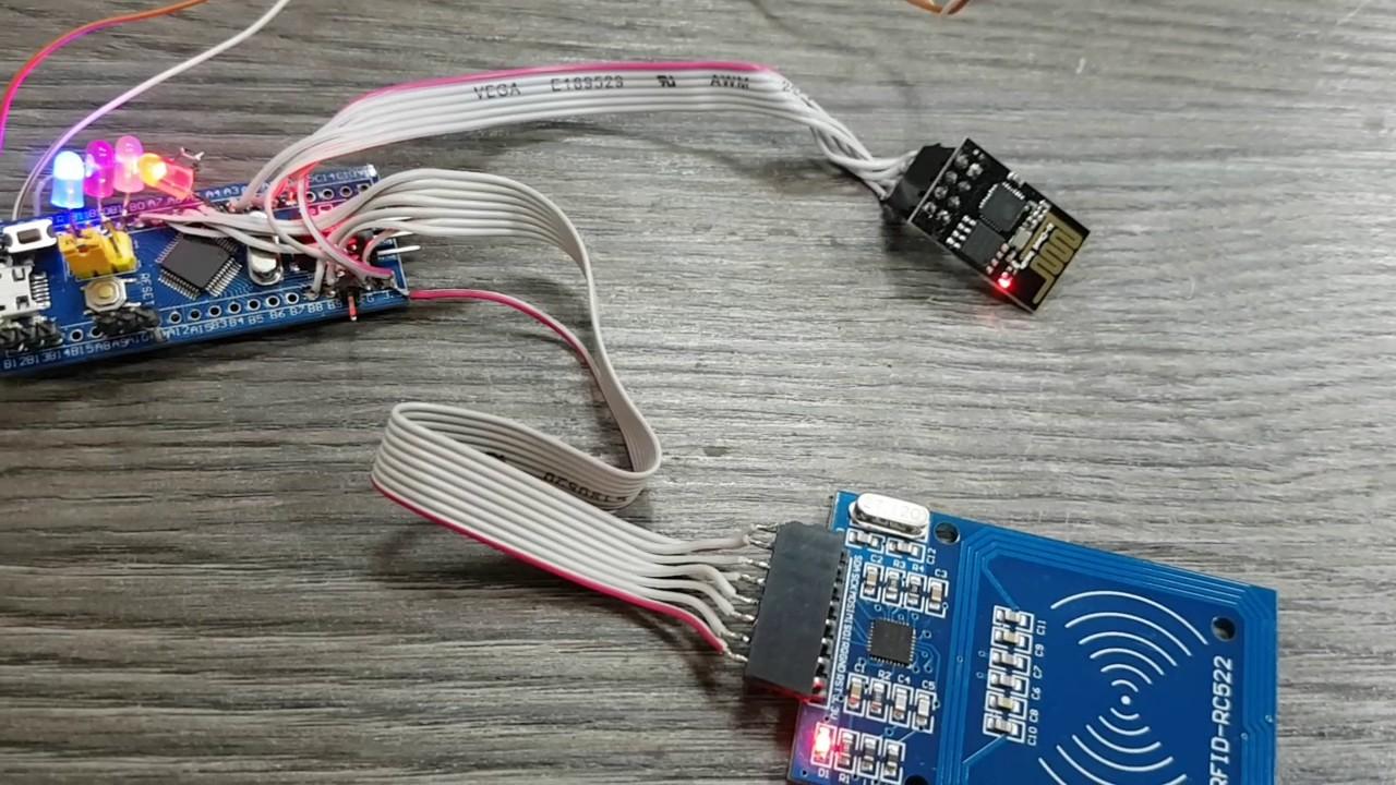 ESP8266 RC522 STM32 mini web server