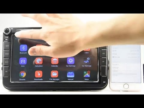 Магнитола Camecho Android 8,1 для Skoda/Passat/Golf/Polo