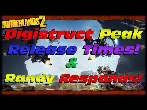 Borderlands 2 Digistruct Peak DLC Release Times & Randy Pitchford Responds About Kunai! |