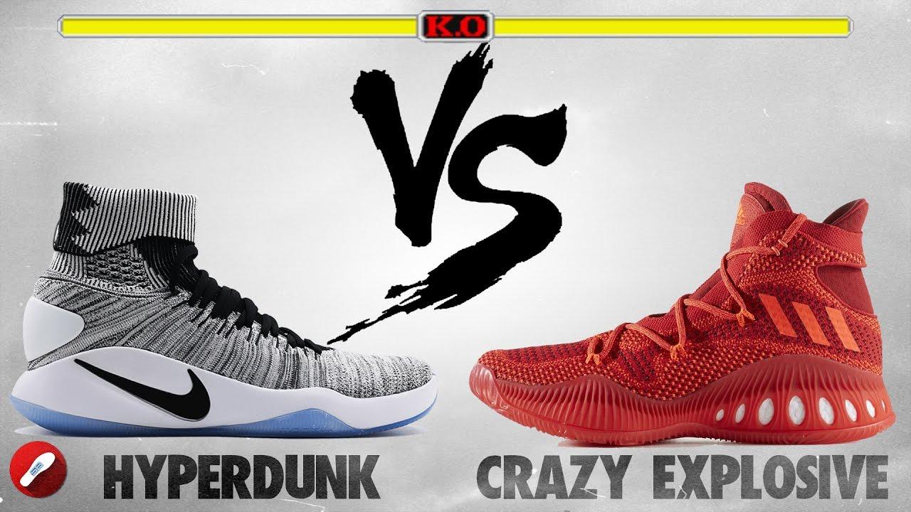 Nike Vs Adidas Crazy explosivo hyperdunk formadores de descuento