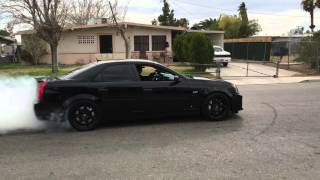 2007 Cam/headers Cadillac CTS-V burnout