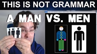 The Difference Between Man & Men - Vocabulary about Men Gender and Sex in English Lesson Video