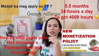 How to monetize your YouTube channel 2019? Step by step guide at Magkano kinita ko