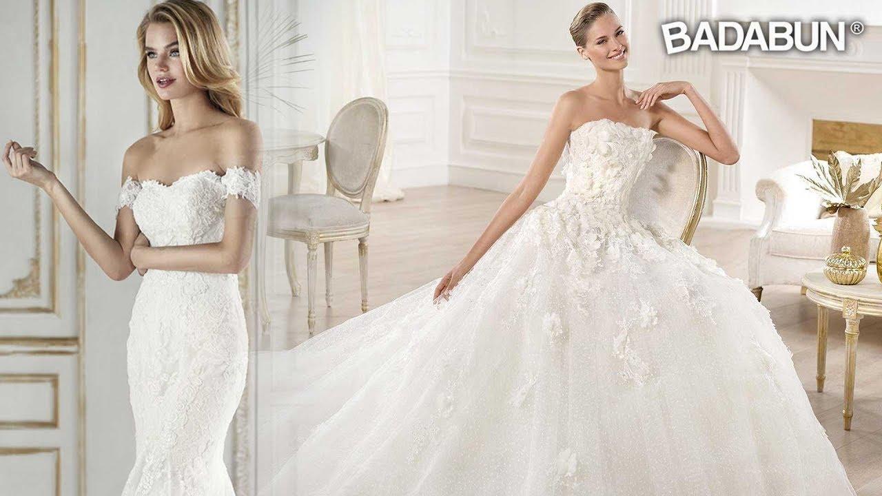Vestido de novia blanco tipo princesa