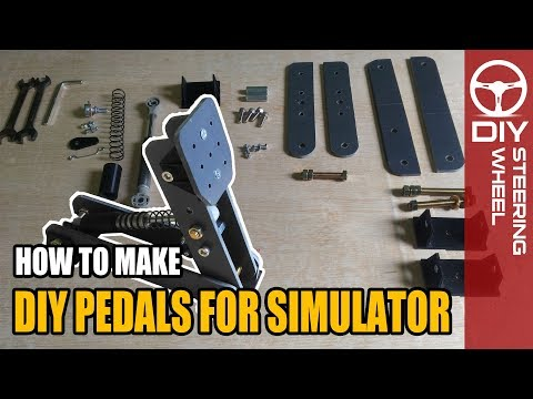 DIY Pedal Box For Simulator | DIY Steering Wheel - Sim Racing Rig