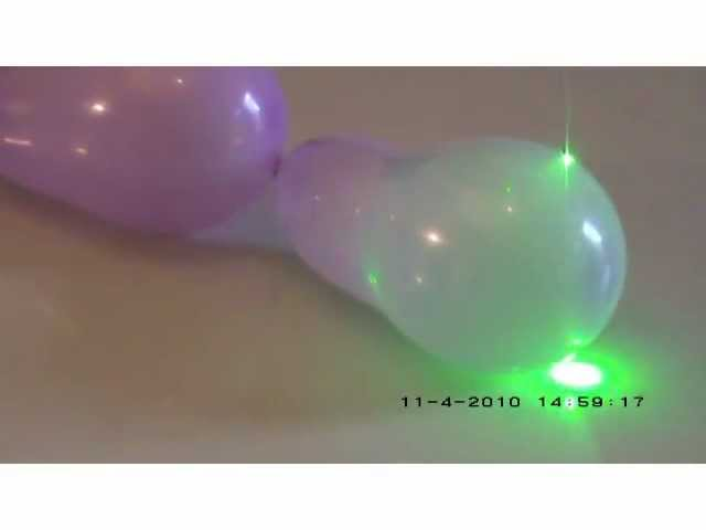 A laser and a balloon - Science experiment