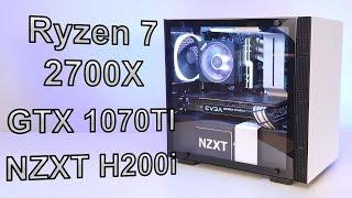 June 2018 - PC Build Time Lapse - Ryzen 7 2700x - NZXT H200i - EVGA 1070 Ti - Asus X470-i
