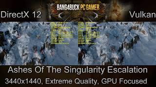 Ashes Of The Singularity Escalation DX12 VS Vulkan Test