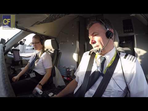 Kapitän Gerhard Im Airbus A220:  Toller Cockpitflug, Hamburger Jung In Neuer CS300 - Cockpitfilme.de