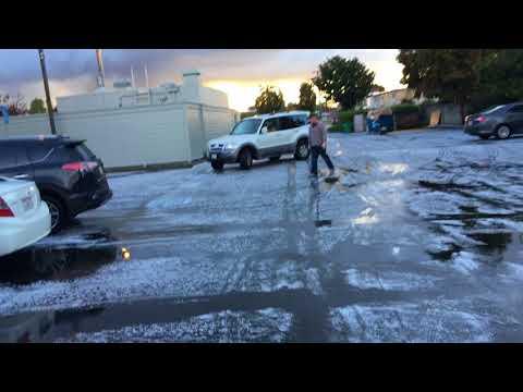 Springtime hail in Alameda