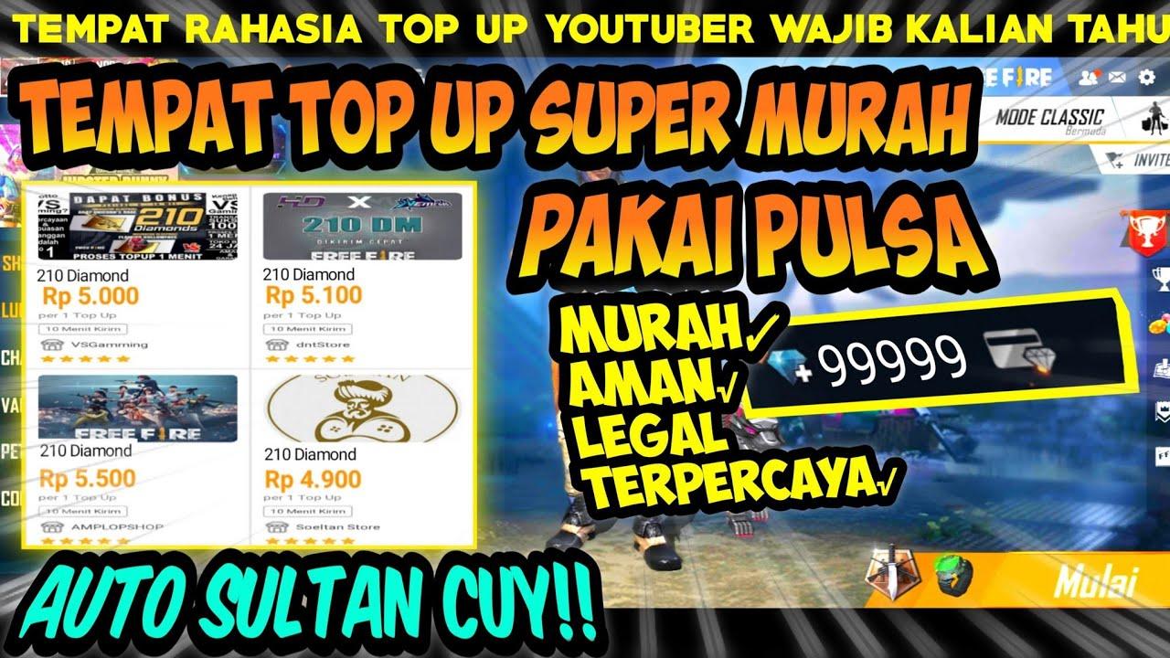 210 DM Rp 5.000❗BISA PAKAI PULSA | TEMPAT TOP UP MURAH FREE FIRE LEGAL/AMAN 2020